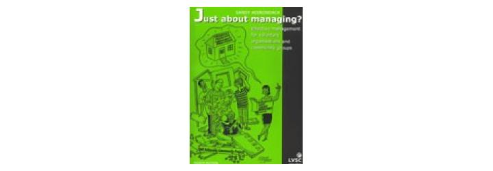 just about managing - cover