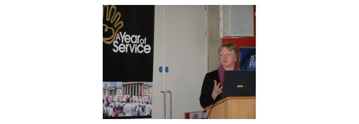 Harriet Crabtree of Interfaith Network at the DCLG event
